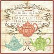 Teas And Coffees Sign Art Print