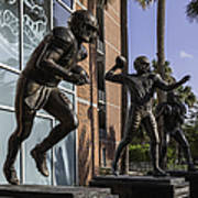 Tebow Spurrier And Wuerffel Uf Heisman Winners Art Print