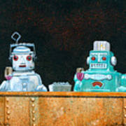 Tech Talk... Art Print by Will Bullas