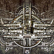 Technically Electronic Background Art Print