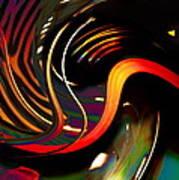 Techno  Neon Stripes Art Print