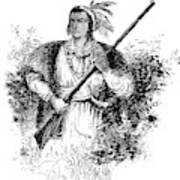 Tecumseh, Shawnee Indian Leader Art Print