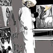 Ted Degrazia Painting Mural With Brush Mexico City C.1941-2013 Art Print