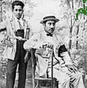 Ted Degrazia With  Uncle  Gregorio Circa 1920's-2013 Art Print