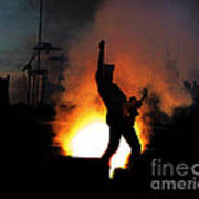 Ted Nugent On Fire Art Print