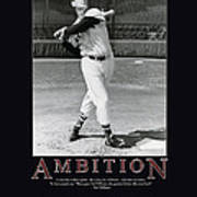 Ted Williams Ambition Art Print