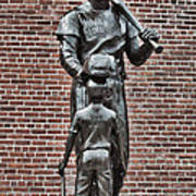 Ted Williams Statue - Boston Art Print by Joann Vitali