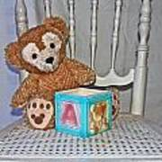 Teddy And Toy Box Art Print