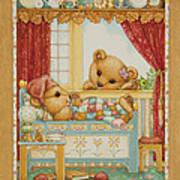 Teddy Bear Friends Art Print