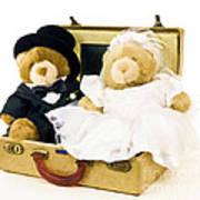 Teddy Bear Honeymoon Art Print