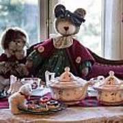Teddy Bear Tea Party Art Print