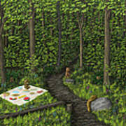 Teddy Bears' Picnic Art Print