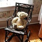 Teddy In Old Fashioned Rocker Art Print