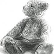 Teddy Study Art Print