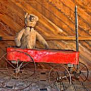 Teddy Takes A Ride Art Print