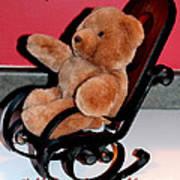 Teddy's Chair - Toy - Children Art Print by Barbara Griffin