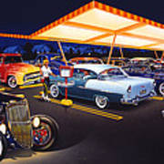 Teds Drive-in Art Print