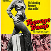 Teenage Tramp, Alisha Fontaine, 1973 Art Print