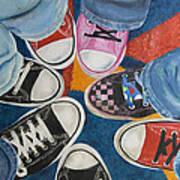 Teens In Converse Tennies Art Print