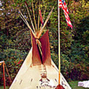 Teepee Art Print by Marty Koch