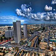 Tel Aviv Center Skyline Art Print