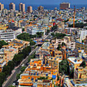 Tel Aviv Eagle Eye View Art Print