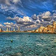 Tel Aviv Jaffa Shoreline Art Print
