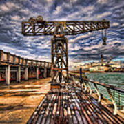 Tel Aviv Port At Winter Time Art Print