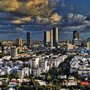 Tel Aviv Skyline Fascination Art Print