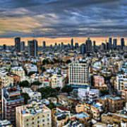 Tel Aviv Skyline Winter Time Art Print