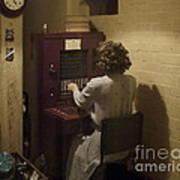 Telephone Operator Art Print
