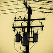 Telephone Pole 3 Art Print