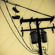 Telephone Pole And Sneakers 1 Art Print