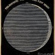 Telescopic View Of The New Moon Art Print