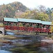 Tellico Bridge In Fall Art Print by Regina McLeroy