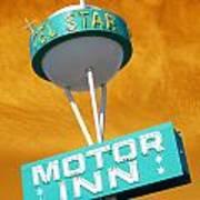 Telstar Motor Inn - Orange Art Print
