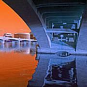 Tempe Town Lake Bridges Art Print