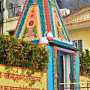 Colorful Temple - Rishikesh India Art Print