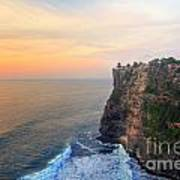 Temple In Uluwatu Bali  Art Print