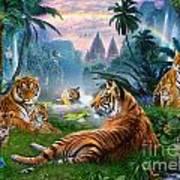 Temple Lake Tigers Art Print