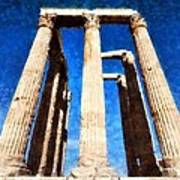 Temple Of Olympian Zeus  Art Print