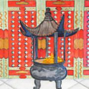 Temple Offerings Art Print