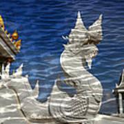 Temple Reflection Art Print