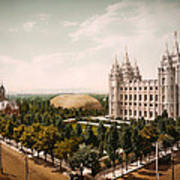 Temple Square Salt Lake City 1899 Art Print