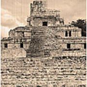 Templo De Edzna Antiguo Art Print