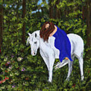 Temptress In The Forest Art Print