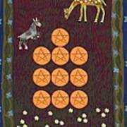 Ten Of Pentacles Art Print