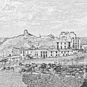 Tenby Harbor Panorama Art Print