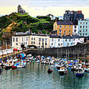 Tenby Harbour Panorama Art Print