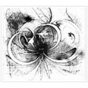 Tendrils In Pencil 01 Art Print